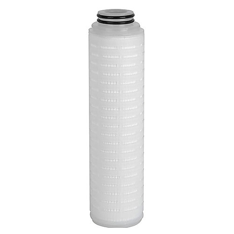Hydrophobic PTFE pleated filter cartridge
